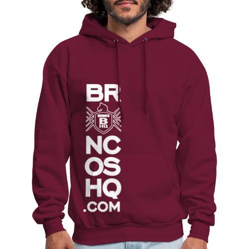 BroncosHQ Vertical Text White - Men's Hoodie