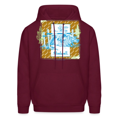 PonyFall blue yellow Thelwell Cartoon - Men's Hoodie