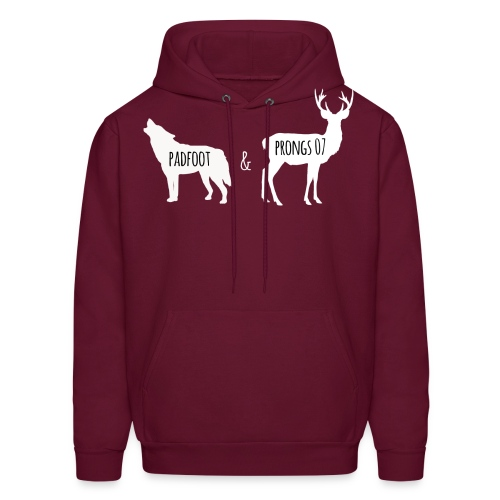 Padfoot Prongs07 White - Men's Hoodie