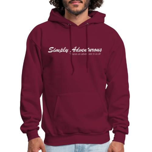 Simply Adventurous WHITE Design - Men's Hoodie