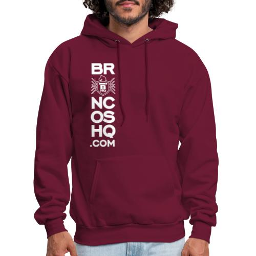 BroncosHQ Vertical Text White - Men's Hoodie