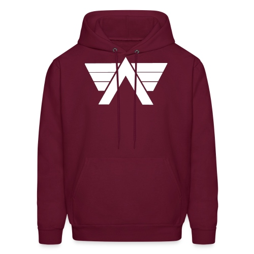 Bordeaux Sweater White AeRo Logo - Men's Hoodie