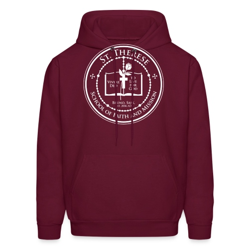 STS School Crest lineart white png - Men's Hoodie