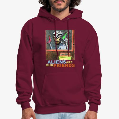 Aliens Are Our Friends - Men's Hoodie
