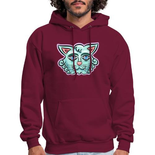 Happy Cat Teal - Men's Hoodie