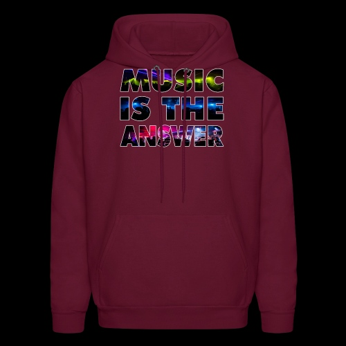Music Is The Answer - Men's Hoodie