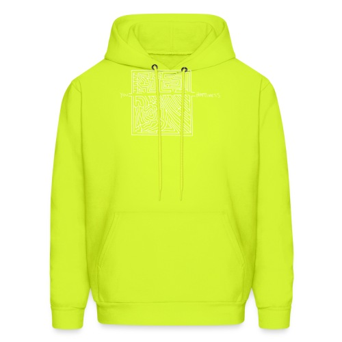 Happiness (White Print) - Men's Hoodie