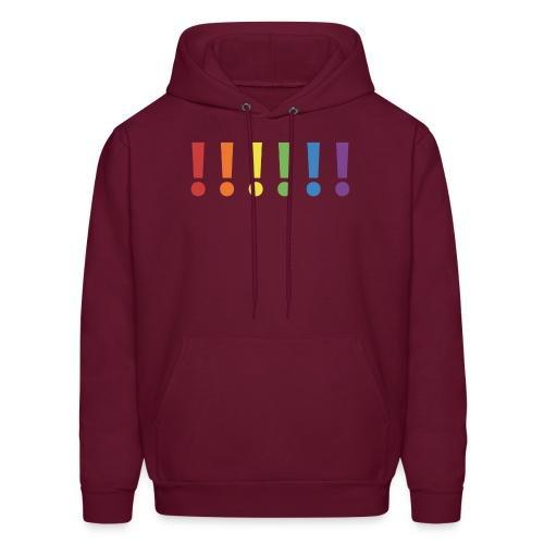 Pride Rainbow Exclamation Marks - Men's Hoodie