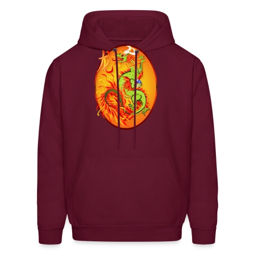 New Year Dragon and Symbol Oval - Men's Hoodie