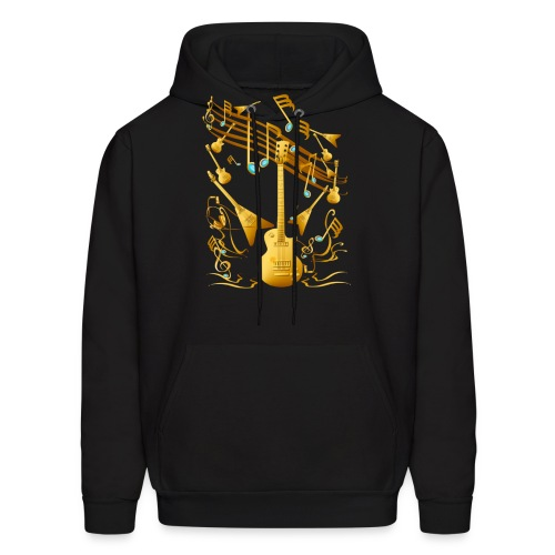 Gold Guitar Party - Men's Hoodie