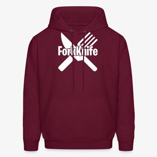 Forkknife Funny Gamer Logo - Men's Hoodie