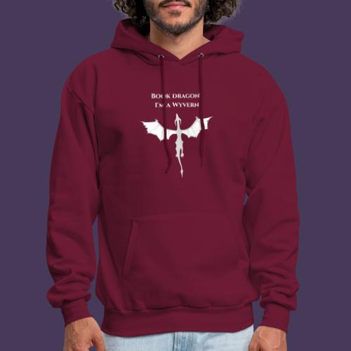 Book dragon? I'm a Wyvern (white) - Men's Hoodie