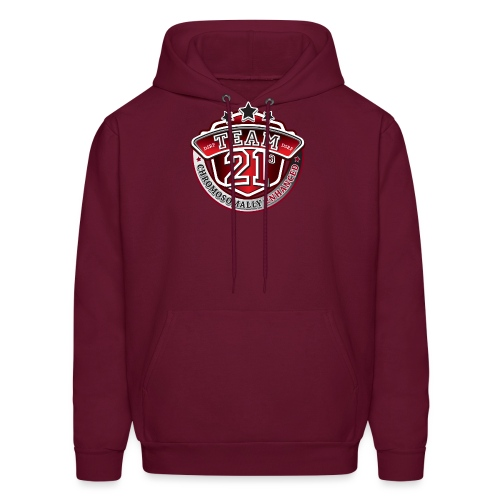 Team 21 - Chromosomally Enhanced (Red) - Men's Hoodie