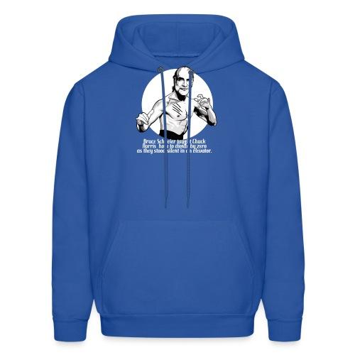 schneier10 martial white - Men's Hoodie