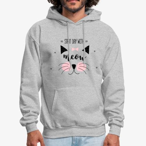 Start Day With Meow - Men's Hoodie