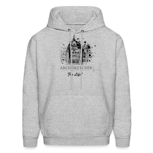 Archisketcher for Life! by Jack L Barton - Men's Hoodie