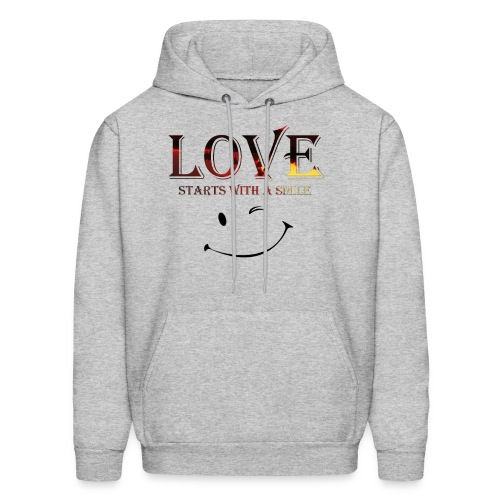 lOVE starts with a smille - Men's Hoodie