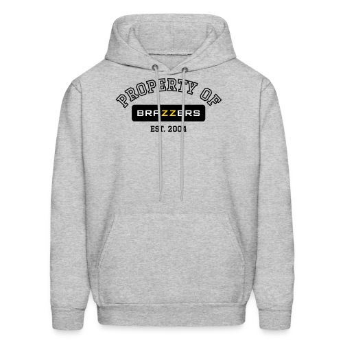 Property of Brazzers logo outline - Men's Hoodie