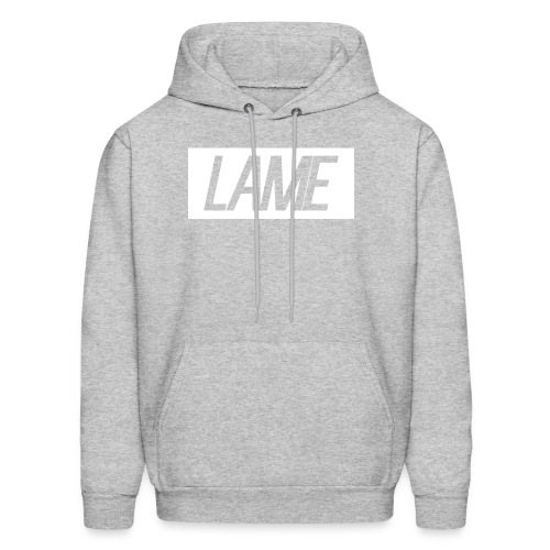 lame/ white rectangle - Men's Hoodie