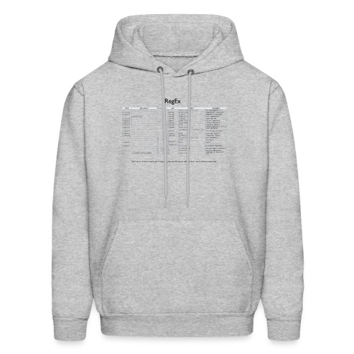 Regular Expression everywhere - Men's Hoodie