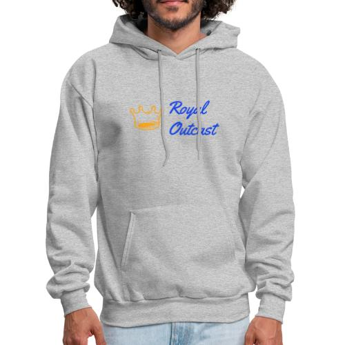 GreyRoyal Outcast with blue and gold logo - Men's Hoodie