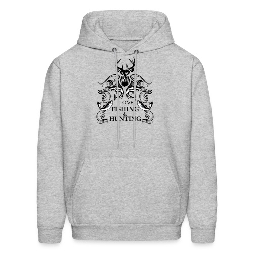 I love fishing and hunting - Men's Hoodie