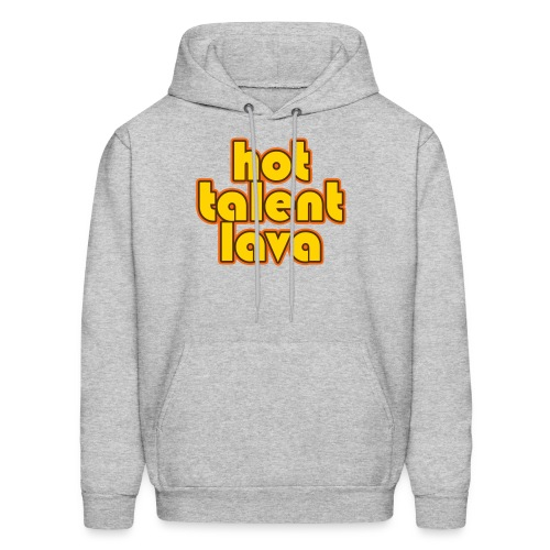Hot Talent Lava - Yellow Letters - Men's Hoodie