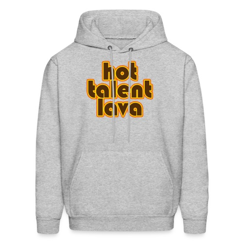 Hot Talent Lava - Brown Letters - Men's Hoodie