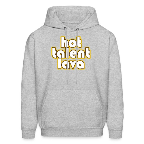 Hot Talent Lava - White Letters - Men's Hoodie