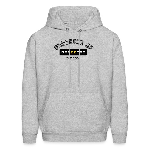 Property of Brazzers logo outline - Men's Hoodie