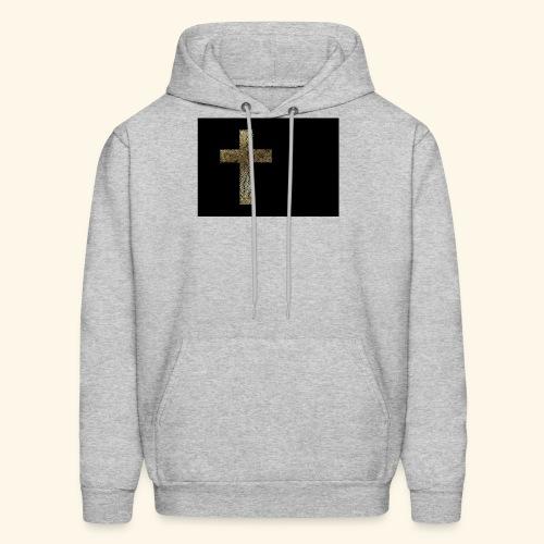 Gold Leaf Cross - Men's Hoodie