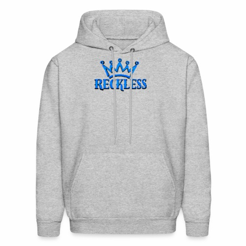 3d baby blue Reckless - Men's Hoodie