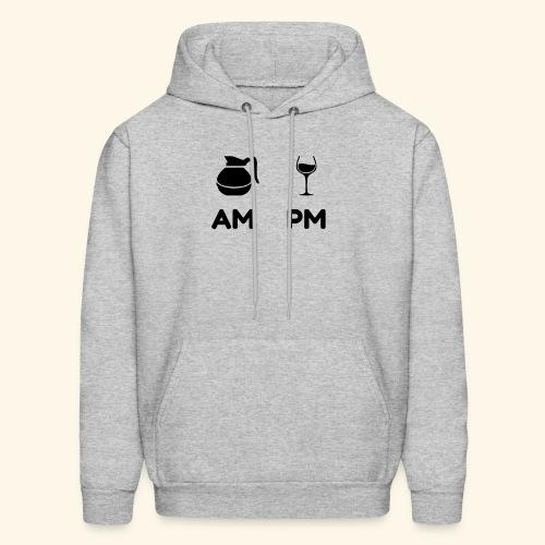 am pm Black - Men's Hoodie