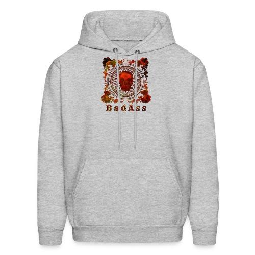 Skull on Mandala Badass - Men's Hoodie