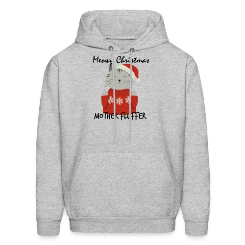 Meowy Christmas Mother Fluffer Funny T-Shirt - Men's Hoodie