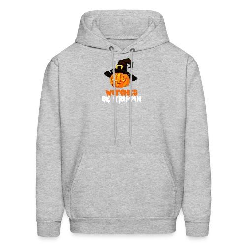 Halloween Funny skull zombie pumpkin tee shirts - Men's Hoodie
