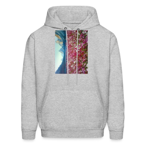 Mountains and Flower - Men's Hoodie
