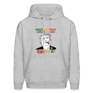 Smoke Cannabis and Maker America Great Again Trump - Men's Hoodie