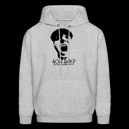 How Hard Scream Face & Logo - Men's Hoodie