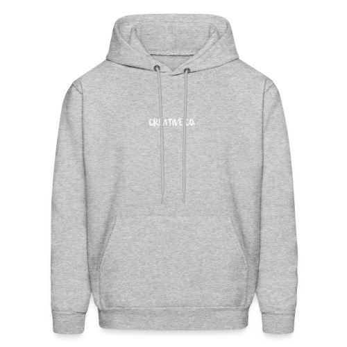 Creative Co Front Logo White - Men's Hoodie