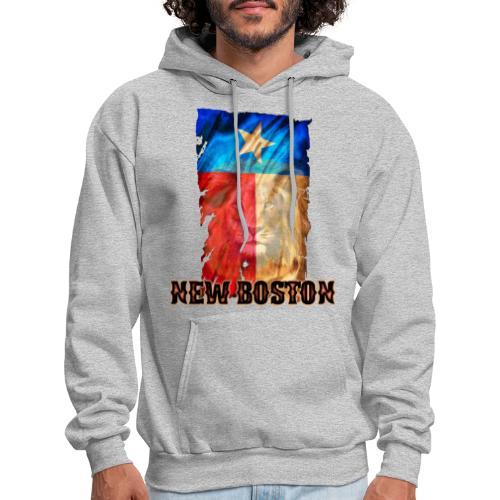 New Boston Texas Flag 2 - Men's Hoodie