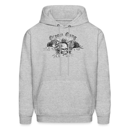 Groom Gang the Evils (BW) - Men's Hoodie