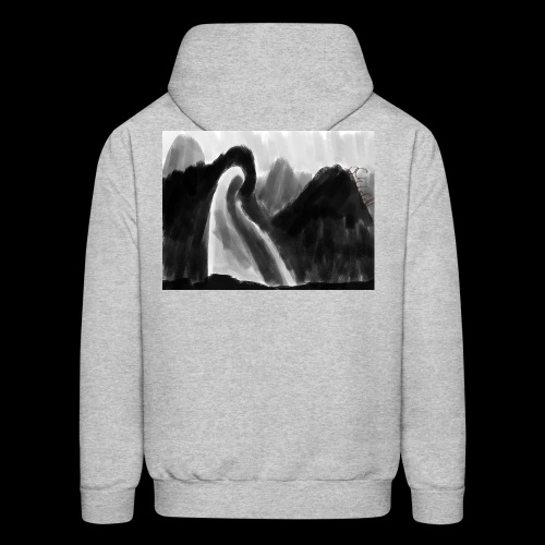 Ghost atop a mountain - Men's Hoodie