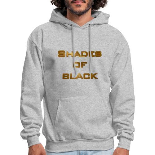 Shades of Black Logo - Men's Hoodie