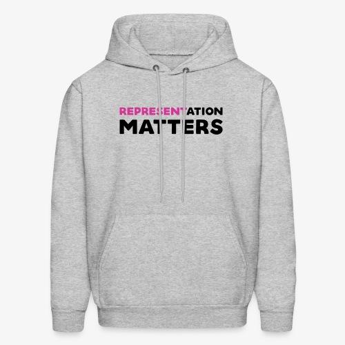 Representation Matters - Pink - Men's Hoodie