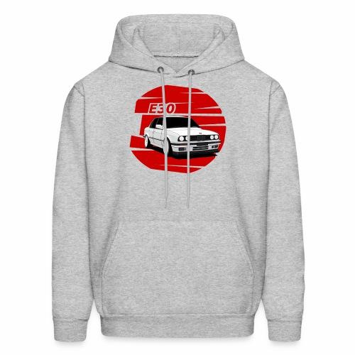 Bimmer e30 red background - Men's Hoodie