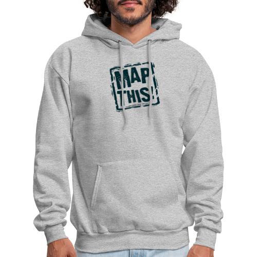 MapThis! Black Stamp Logo - Men's Hoodie