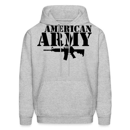AMERICAN ARMY BLACK - Men's Hoodie