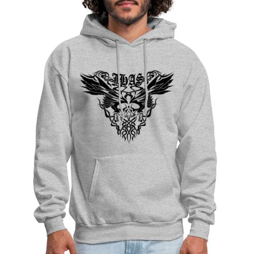 Vintage JHAS Tribal Skull Wings Illustration - Men's Hoodie