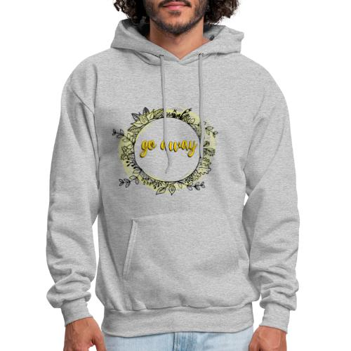 T-Shirt For Introverts - Go Away - Floral Wreth - Men's Hoodie